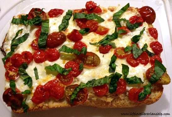 Garlic Bread Pizza on Ciabatta | Adventures in Life, Love, and Librarianship
